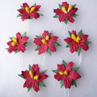 Wild Orchid Crafts Poinsettias - Red