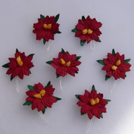 Wild Orchid Crafts Small Red Poinsettias