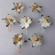 Wild Orchid Crafts Small White Poinsettias
