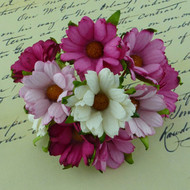 Wild Orchid Crafts Mixed Pink/White Chrysanthemums