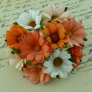 Wild Orchid Crafts Mixed Orange Chrysanthemums