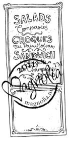 Magnolia Stamps - FRENCH MENU Rubber Stamp