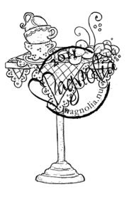 Magnolia Stamps - FRENCH TEA PARTY Rubber Stamp