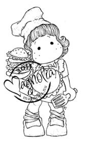 Magnolia Stamps - BURGER TILDA Rubber Stamp