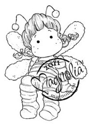 Magnolia Stamps - HONEYBEE TILDA Rubber Stamp