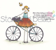 Stamping Bella - Uptown Girls - FLORA THE CYCLIST