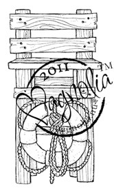 Magnolia Stamps - RESCUE TOWER Rubber Stamp
