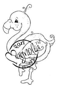 Magnolia Stamps - MIAMIA THE FLAMINGO Rubber Stamp