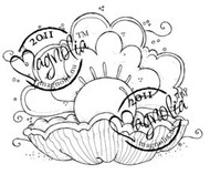 Magnolia Stamps - OYSTER WITH PEARL Rubber Stamp