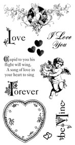 graphic 45 sweet sentiment cling stamp #2