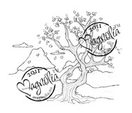Magnolia Stamps - JAPANESE TREE OF LUCK Rubber Stamp