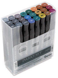 New Spectrum Noir Markers 24 pack - DARKS