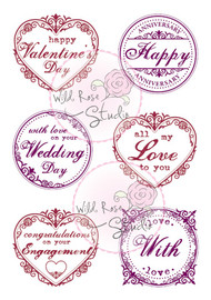 Wild Rose Studio Romantic Greetings