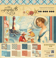 Graphic 45 - By The Sea - 12 x 12 Paper Pad