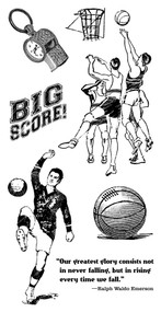 Graphic 45 - Good Ol' Sport - Cling Stamp Set 2