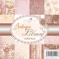 Wild Rose Studio - Antique Library 6 x 6 Paper Pack
