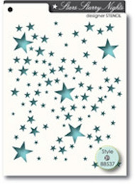 Memory Box Stencil - Starry Nights