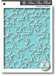 Memory Box Stencil - Star Flash
