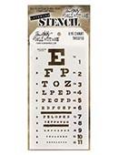 Ranger - Tim Holtz Stencil - Eye Chart - THS010