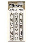 Ranger - Tim Holtz Stencil - Measured - THS012