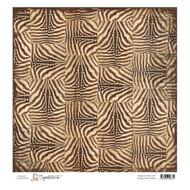 magnolia stamps 12 x 12 paper vintage zebra