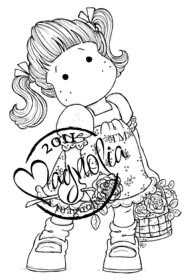 Magnolia Stamps - TILDA WITH BUTTERFLY DRESS Rubber Stamp