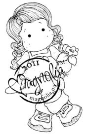 Magnolia Stamps - TILDA WITH DAFFODIL Rubber Stamp