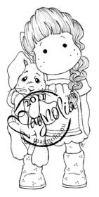 Magnolia Stamps - TILDA WITH HANGING RABBIT Rubber Stamp