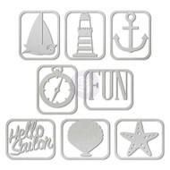 Prima Marketing Seashore Collection - Metal Clips