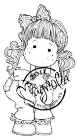 Magnolia Stamps - TILDA WITH LACE JEANS Rubber Stamp