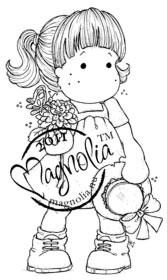 Magnolia Stamps - TILDA WITH STRAW HAT Rubber Stamp