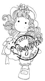 Magnolia Stamps - TILDA WITH STUFFED ANIMAL Rubber Stamp