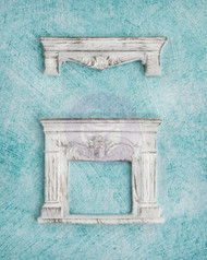 Prima Marketing Shabby Chic Treasures Resin Fireplace