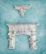 Prima Marketing Shabby Chic Treasures Resin Cherub Fireplace