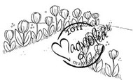 Magnolia Stamps - TULIP WALKWAY Rubber Stamp