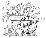 Magnolia Stamps - TULIP WHEELBARROW Rubber Stamp
