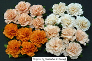 Wild Orchid Crafts Carnation -  Mixed Peach/Orange Tone (20 pc)