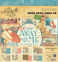 Graphic 45 Come Away With Me 8 x 8 paper pad
