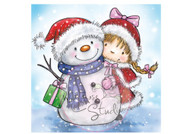 Wild Rose Studio Girl and Snowman
