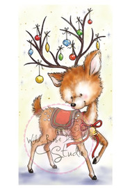 Wild Rose Studio - Reindeer with Baubles