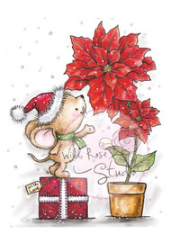 Wild Rose Studio Mouse and Poinsettia