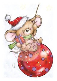 Wild Rose Studio Mouse on Bauble
