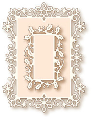 Wild Rose Studio Cutting Die Snow Frame