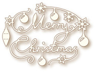 Wild Rose Studio Cutting Die Merry Christmas