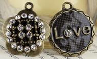 Prima Vintage Trinkets Flower & Love Charm