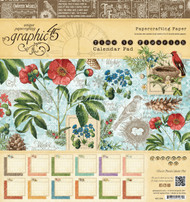 Graphic 45 Time to Flourish Calendar Pad