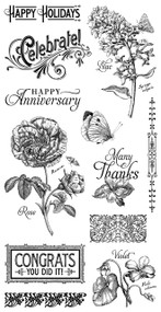 Graphic 45 Time to Flourish Cling Stamp 2
