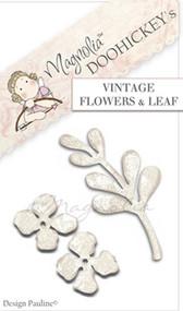 Magnolia Stamps DooHickey Vintage Flower & Leaf