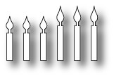 Poppy Stamps Birthday Candles