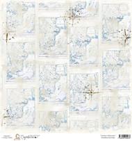 Magnolia 12 x 12 Paper Summer Memories SCANDINAVIAN MAP